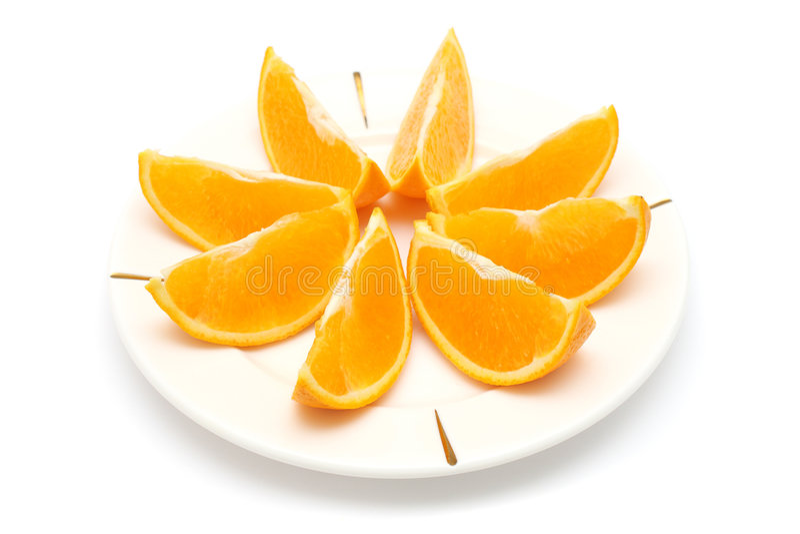 橙色部分 库存照片