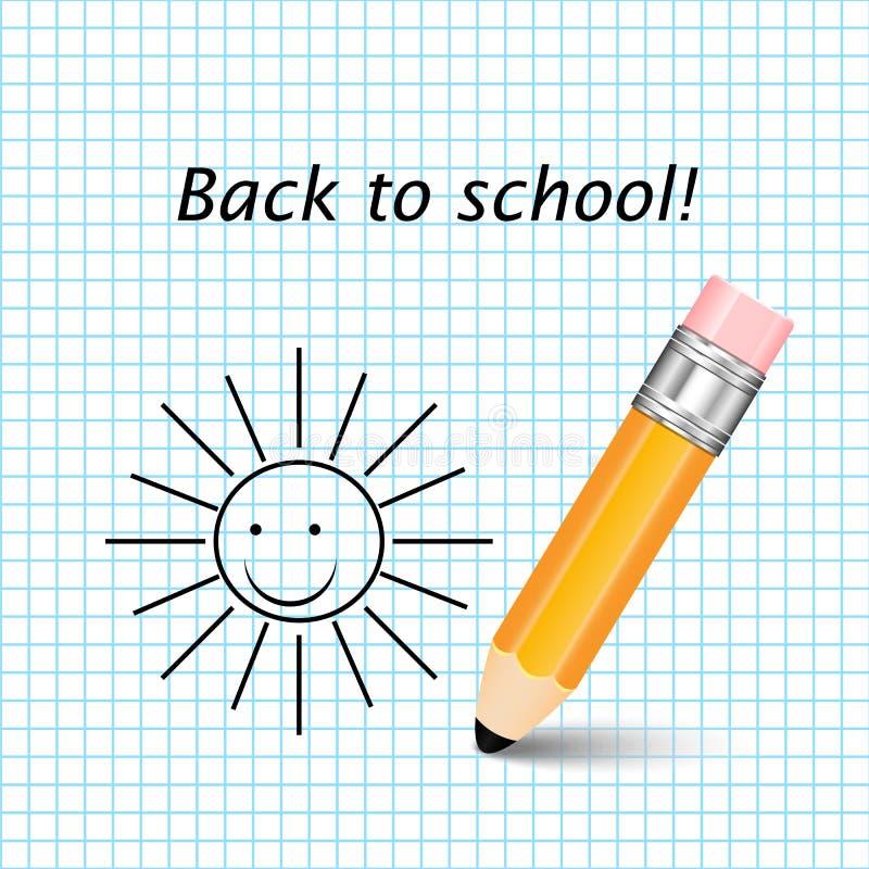 橙色铅笔 库存例证