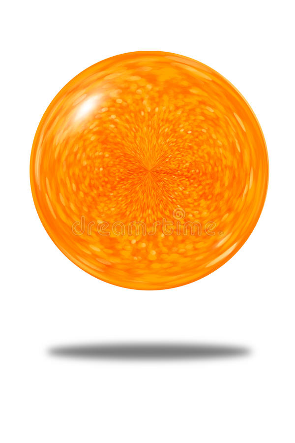 橙色闪烁球背景被隔绝的欢乐摘要  向量例证