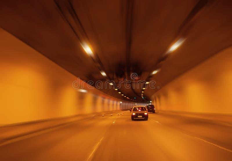 橙色隧道 库存图片
