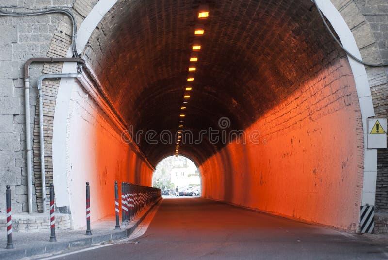 橙色隧道 图库摄影