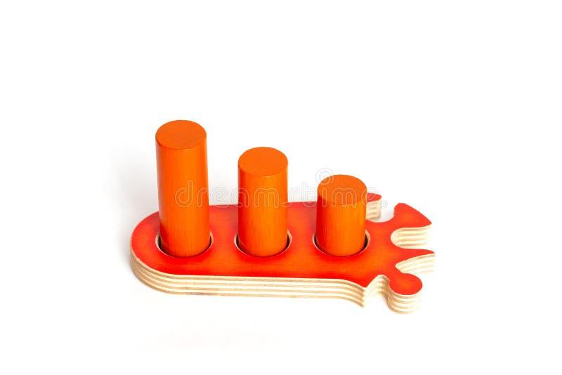橙色难题 事业成长,个性发展 儿童比赛 库存照片