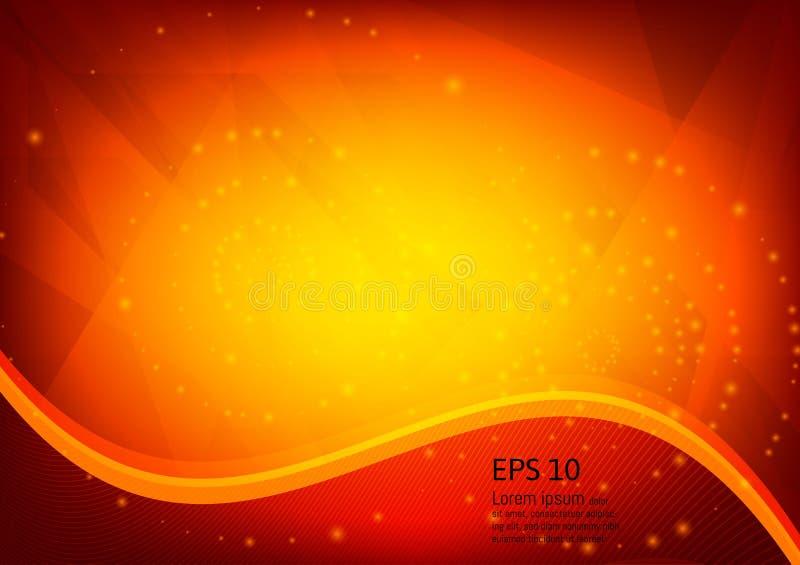 橙色颜色和轻的几何梯度例证构造抽象传染媒介背景 库存例证