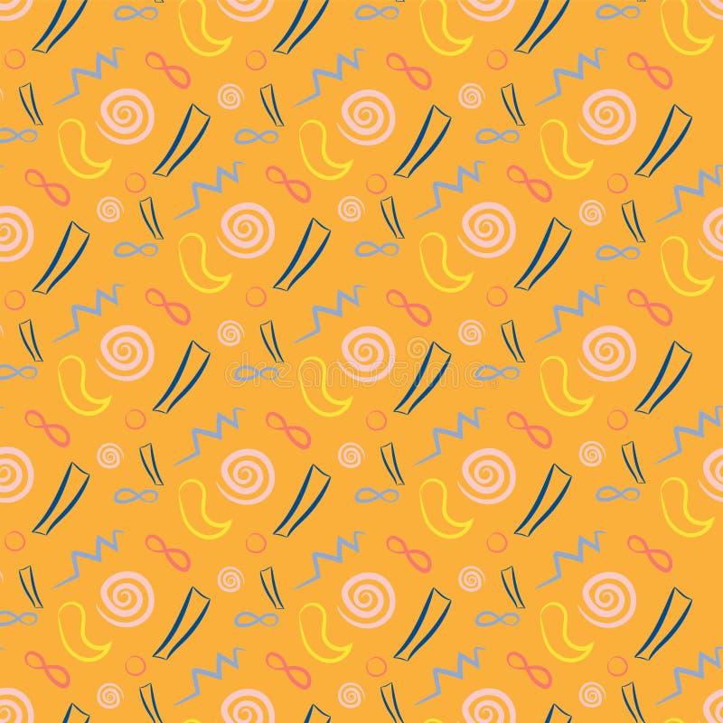 Download 橙色颜色的无缝的样式 向量例证. 插画 包括有 要素, 来回, 打印, 重复, 纸张, 圈子, 行家, 收集 - 72351071