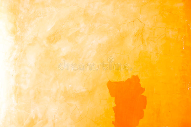 橙色颜色老墙壁纹理 库存图片
