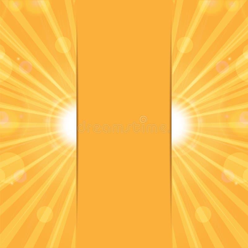 橙色晴朗的背景 库存例证