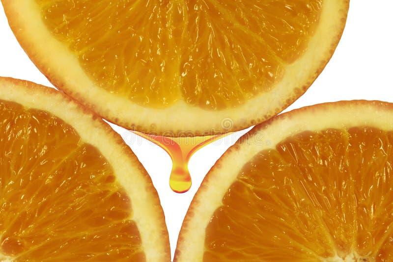 橙色黏浆状物质 库存照片