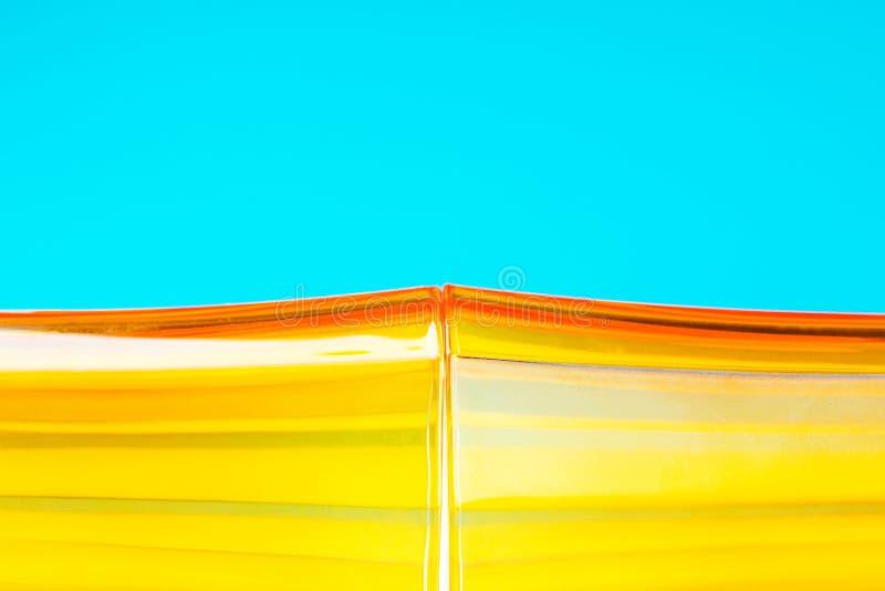 橙色玻璃状抽象背景 免版税库存图片