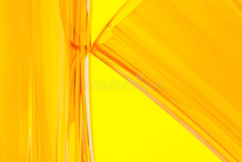 橙色玻璃状抽象背景 免版税库存照片
