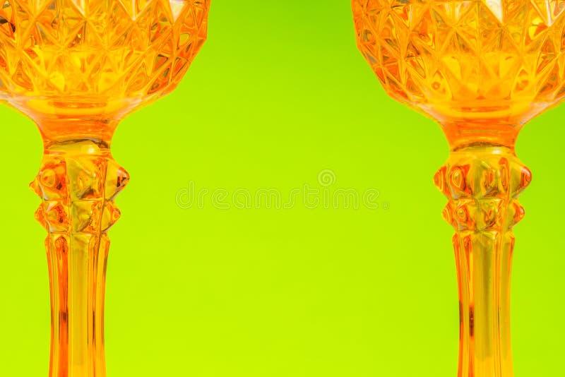 橙色玻璃状装饰背景 库存图片