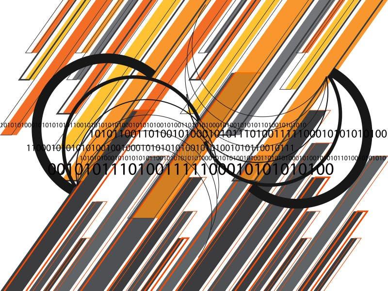 橙色01条图象灰色的线路 向量例证