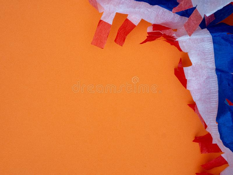 橙色Kingsday背景 库存图片