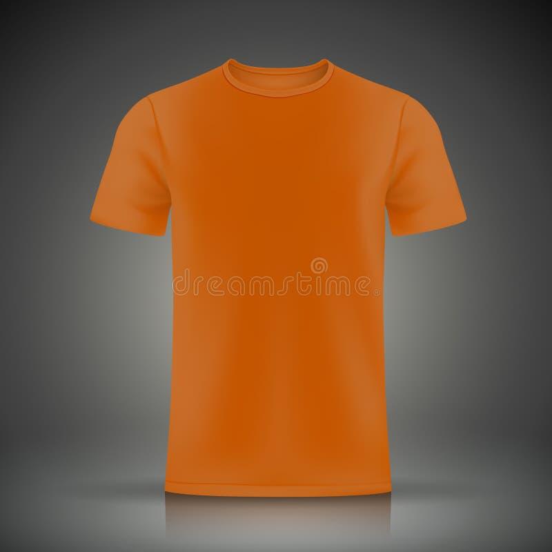 橙色T恤杉模板 库存例证