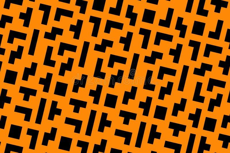 橙色tetris 库存照片
