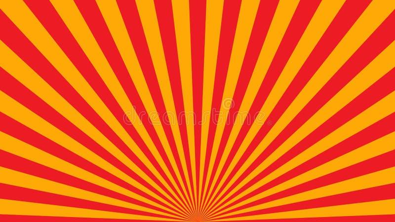 橙黄光芒海报 皇族释放例证