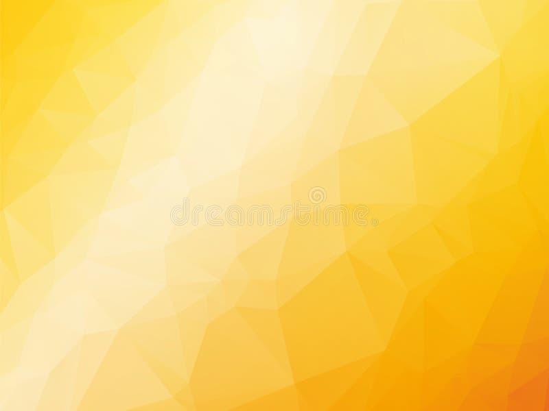 橙黄夏天背景 皇族释放例证