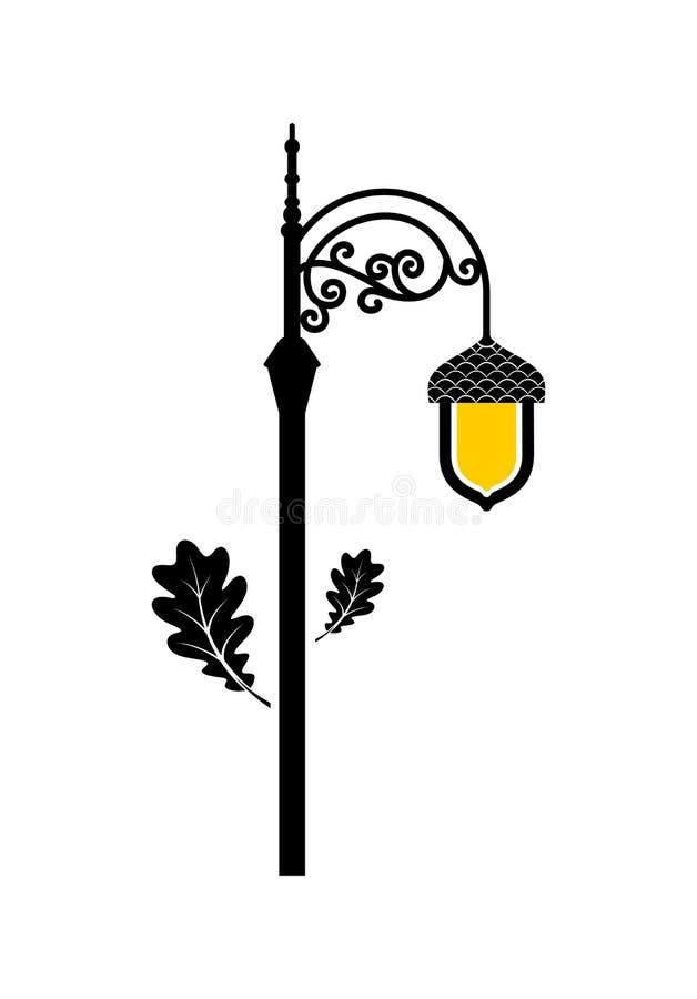 橡子灯笼象 也corel凹道例证向量 皇族释放例证
