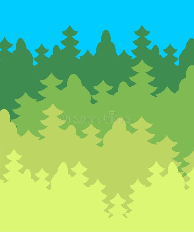 橡子秋天背景边界设计森林橡木阳光 丛林是树 也corel凹道例证向量 向量例证