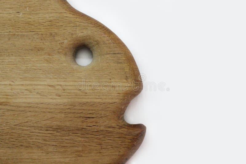 橡木以鱼的形式切板 库存照片