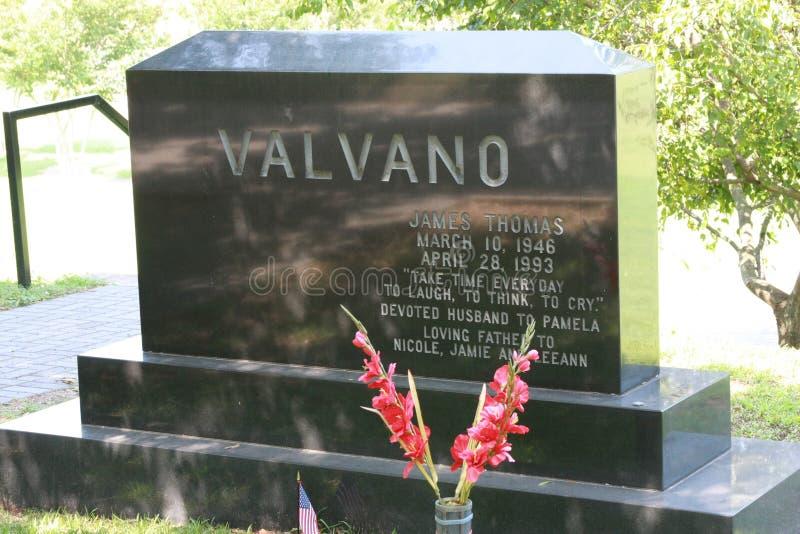 橡木公墓-吉米Valvano ` s坟墓 库存照片