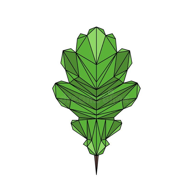橡木叶子传染媒介在多角形样式的例证象 库存例证