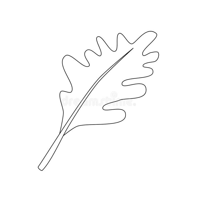 橡木叶子例证 库存例证