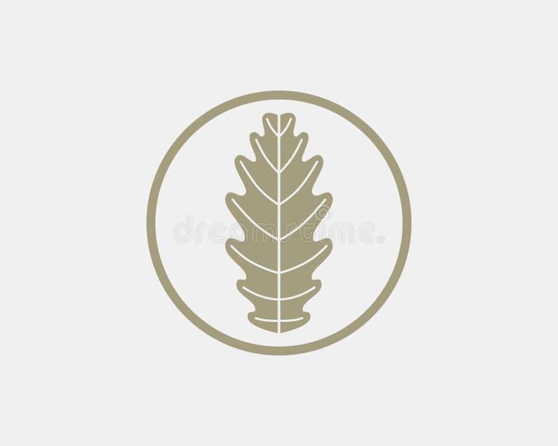 橡木叶子商标设计 皇族释放例证