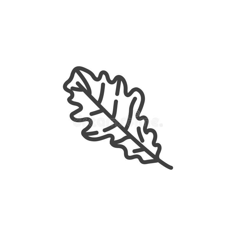 橡木叶子线象 向量例证