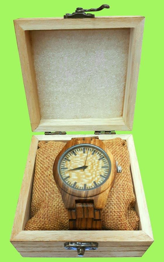 橡木时钟 免版税库存图片