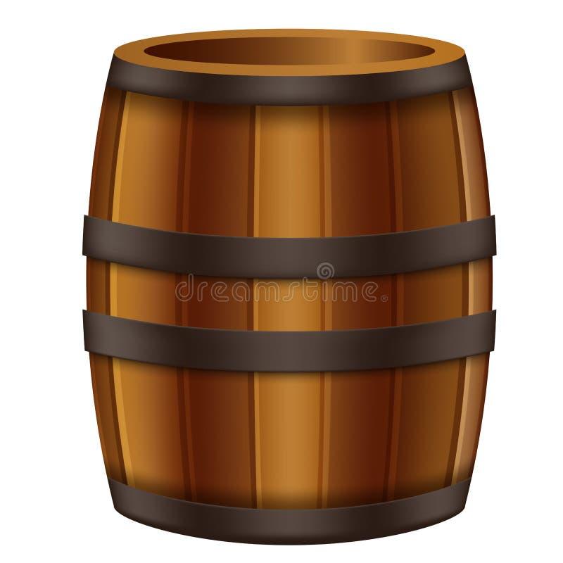橡木桶动画片 库存例证