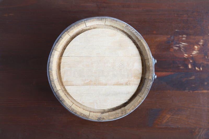橡木桶顶视图 免版税图库摄影