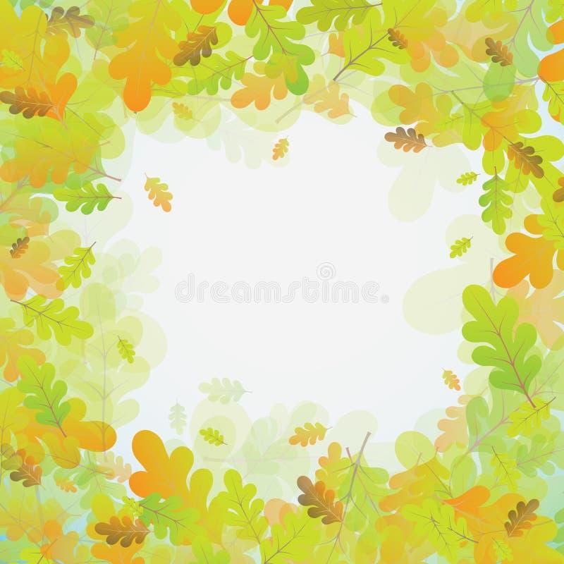 橡木秋天背景,传染媒介 皇族释放例证