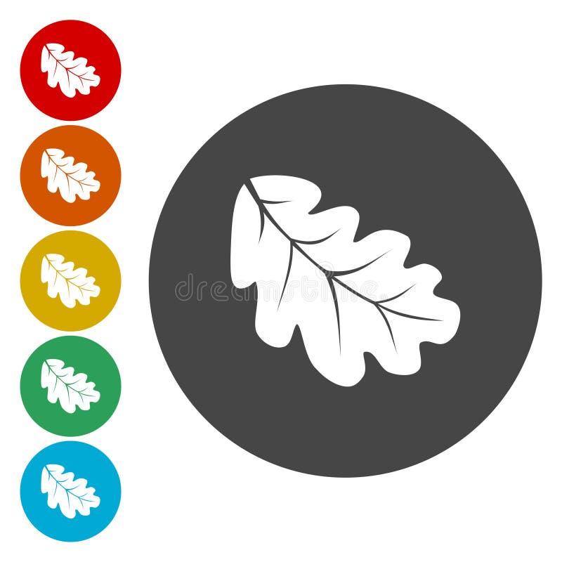 橡木自然的叶子象 皇族释放例证