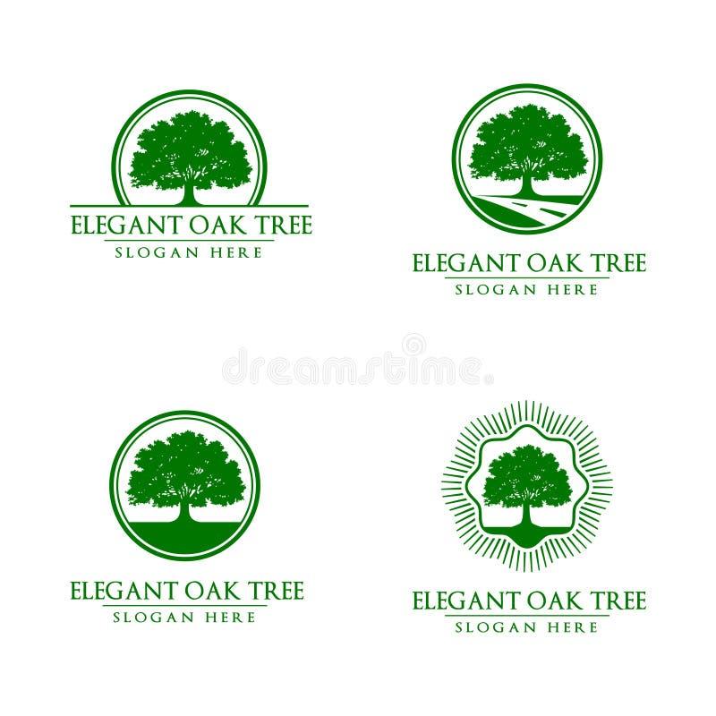 橡木,树,商标 皇族释放例证