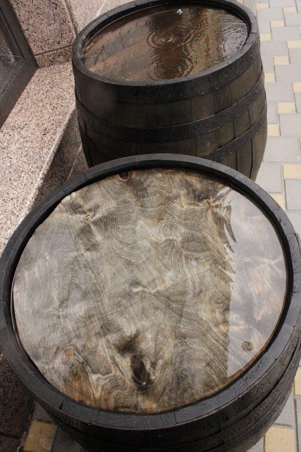 橡木滚磨外面 免版税库存图片