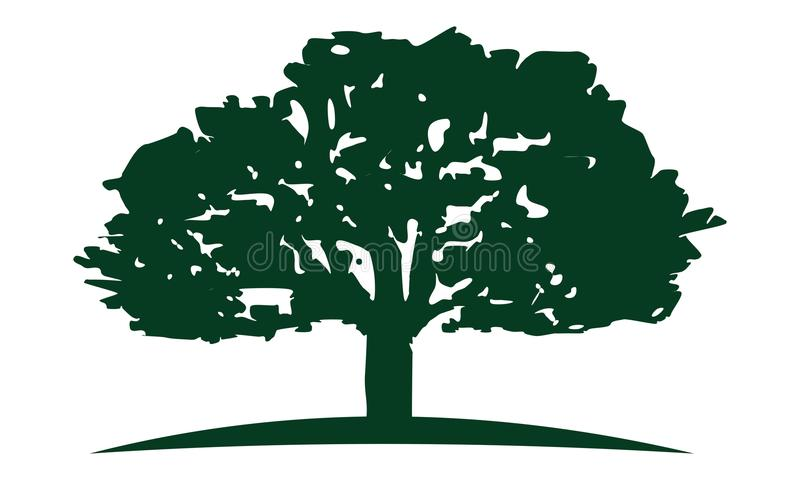 橡树商标设计模板 库存例证