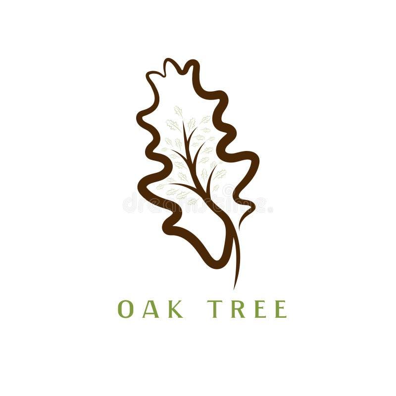 橡树的例证在叶子的 皇族释放例证