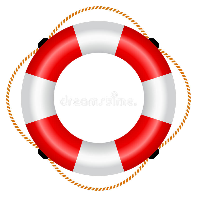 橡皮救生艇例证 皇族释放例证
