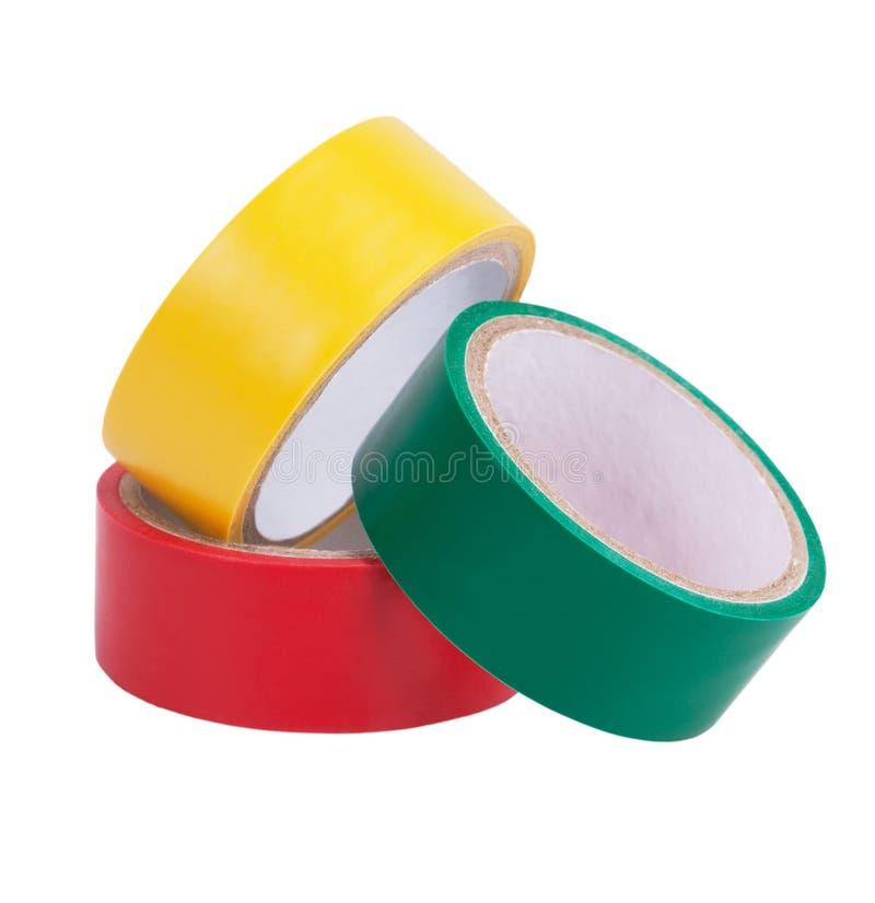 橡皮膏五颜六色的丝球  免版税图库摄影