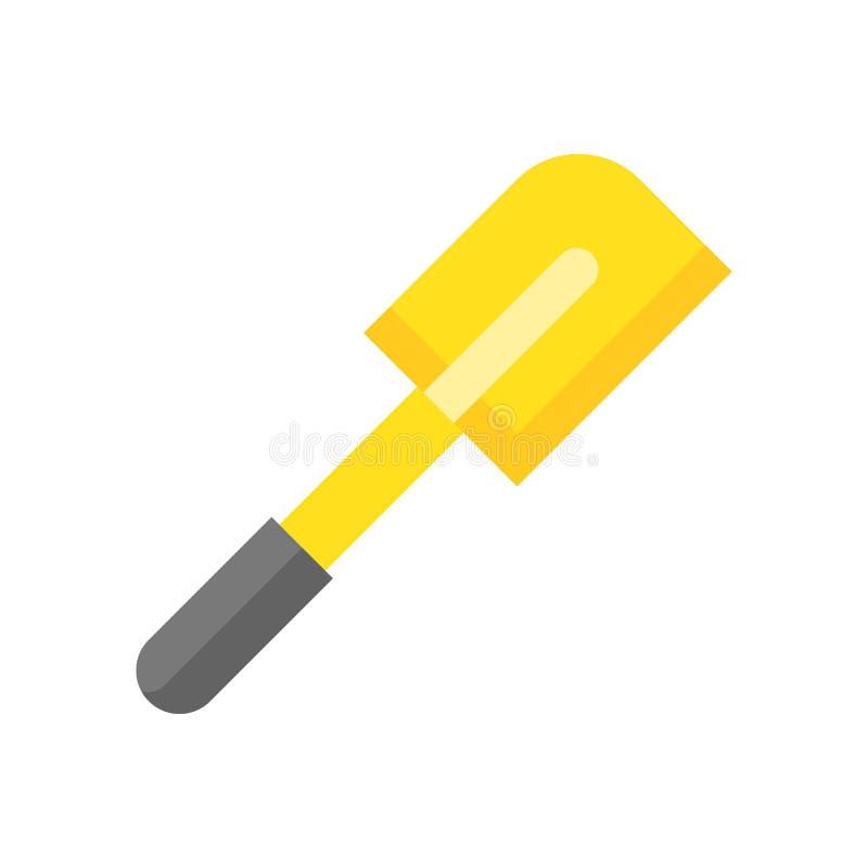 橡胶小铲,面包店和烹调设备平的象 皇族释放例证
