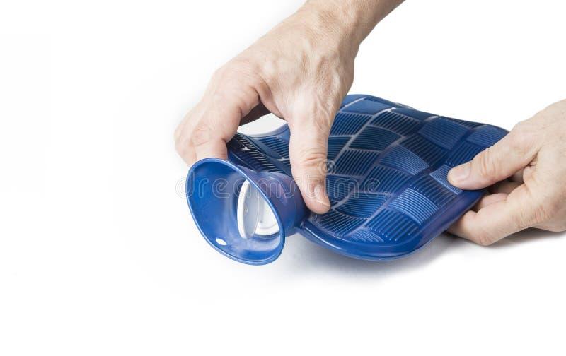 橡胶瓶冷和热水袋 身体热按摩 痛苦松弛治疗 库存图片