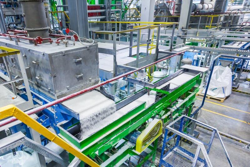 橡胶生产线橡胶化工生产 免版税库存图片