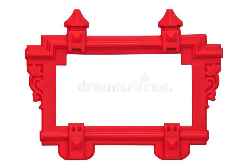橡胶红色框架 免版税库存图片