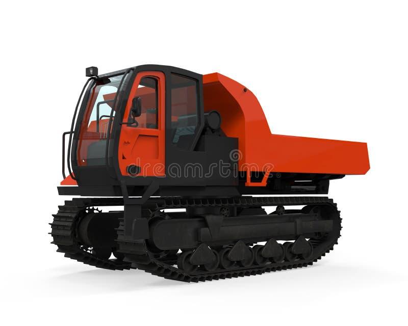橡胶轨道履带牵引装置载体 库存例证