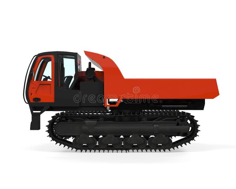 橡胶轨道履带牵引装置载体 向量例证