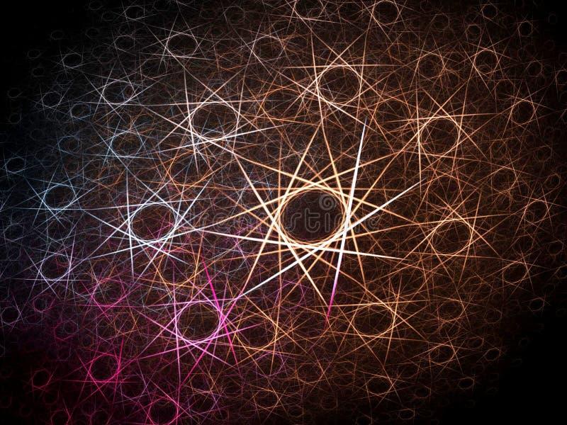 次幂星形 向量例证