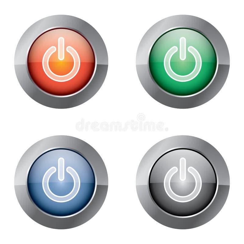次幂的按钮 库存例证