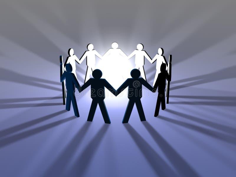 Download 次幂配合 库存例证. 插画 包括有 雇主, 配合, 力量, 影子, 说明, 帮会, 社区, 圈子, 团结, 回报 - 184862