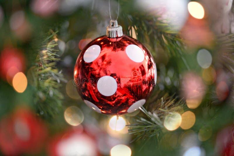 欢乐圆点圣诞节中看不中用的物品 库存图片