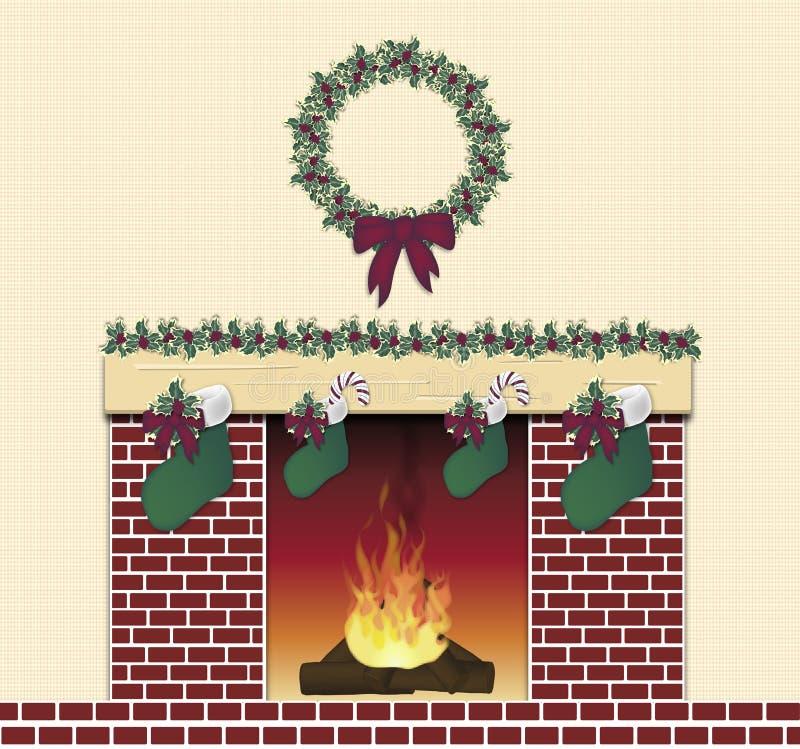 欢乐壁炉红色 库存例证